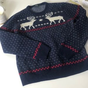 J.Crew Lambs Wool Christmas Holiday Sweater